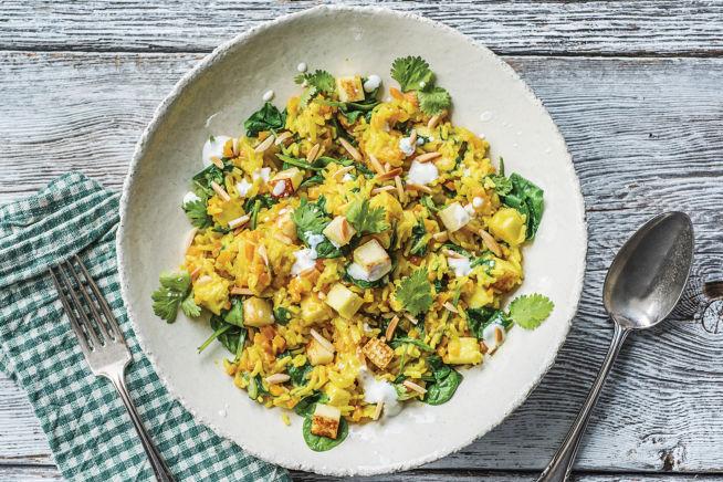 Vegetarian Recipes - Paneer Cheese & Veggie Biryani