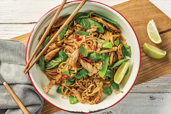 Quick Meals - Speedy Thai Pork and Basil Drunken Noodles