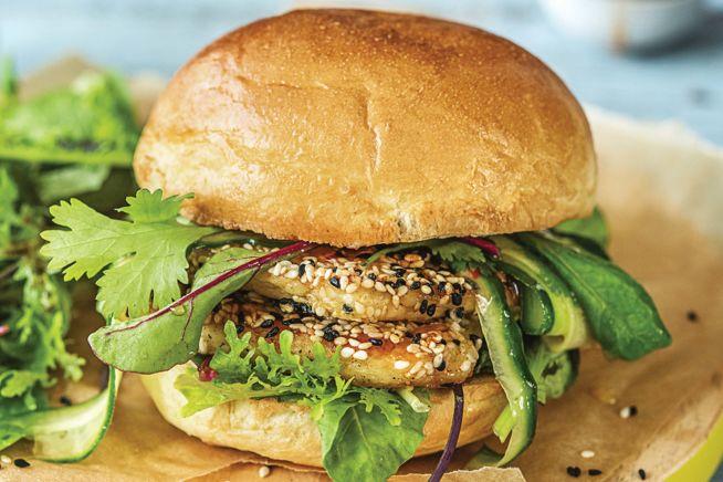 Quick Meals - Speedy Sesame-Crusted Haloumi Burger