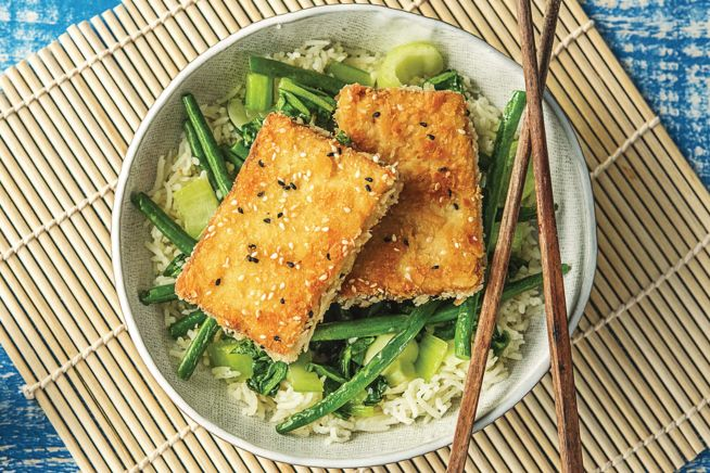 Vegetarian Recipes - Sesame Crusted Tofu