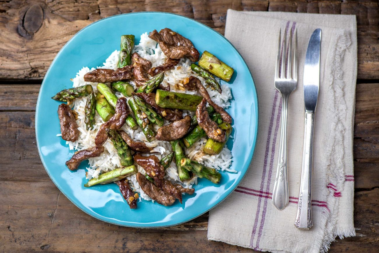 Ginger Beef Stir Fry With Asparagus