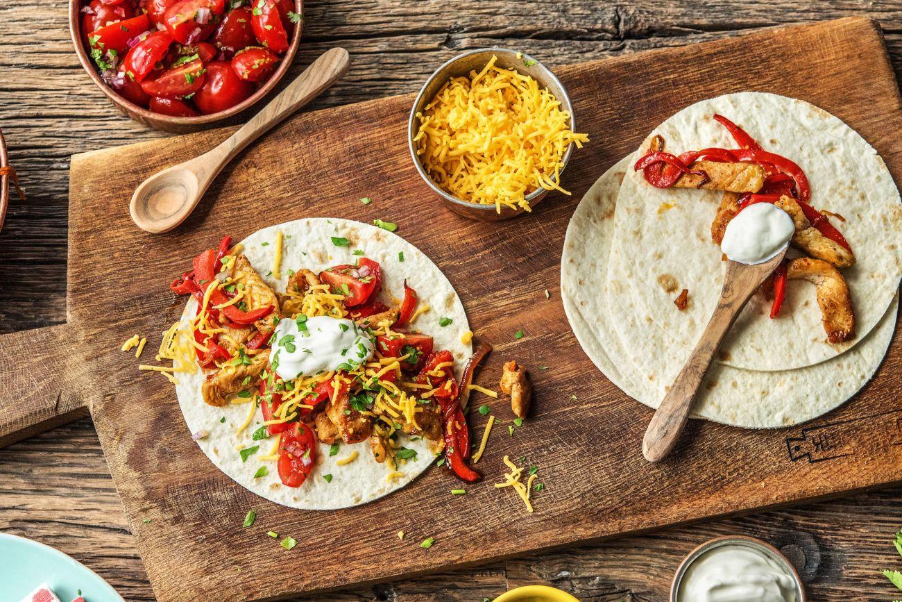 easy Mexican recipes-Fun-Day-Fajita-Bar-HelloFresh