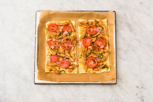 pizza de pollo estilo vaquero