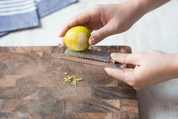 Use your grater's finest side to grate