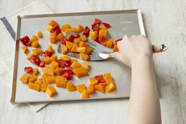 Roast the squash and pepper