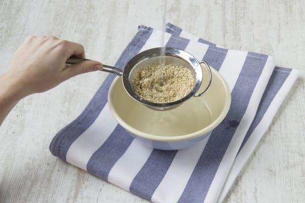 Drain the quinoa