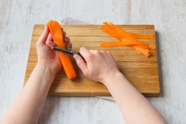 Peel the carrot