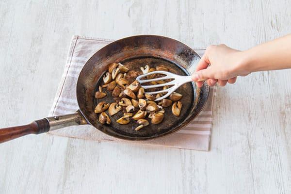 Fry off the mushrooms
