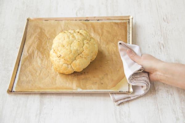Roast the cauliflower crown