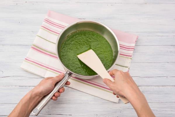 Pureer de groenten tot een saus