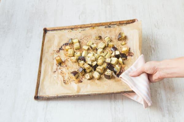 Roast the eggplant