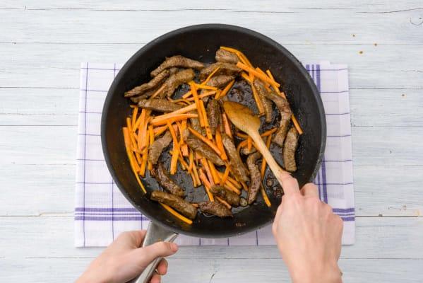 Toss the carrot & beef