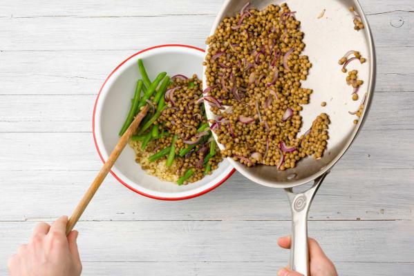 Transfer the lentils