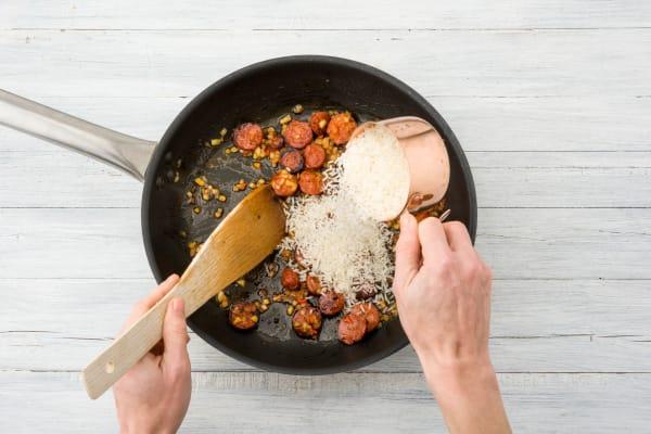 Add the Jasmine rice
