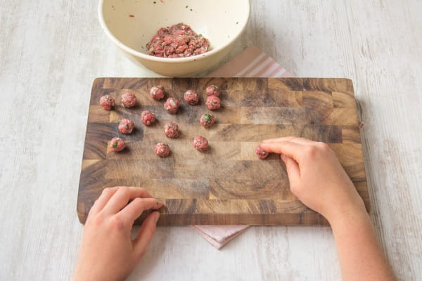 Shape your mince into balls