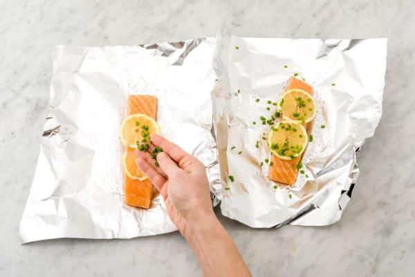 Prep the salmon