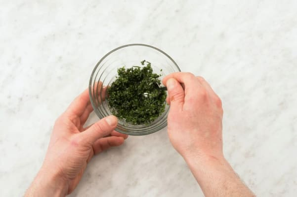 Make the mint-chive pesto