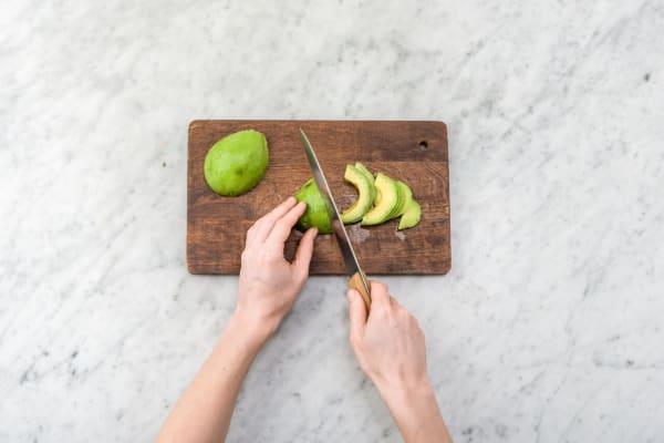 Prep the avocado
