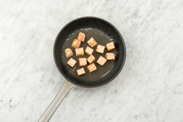 Cook the tofu