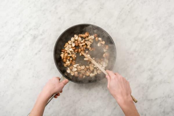 Fry the mushrooms