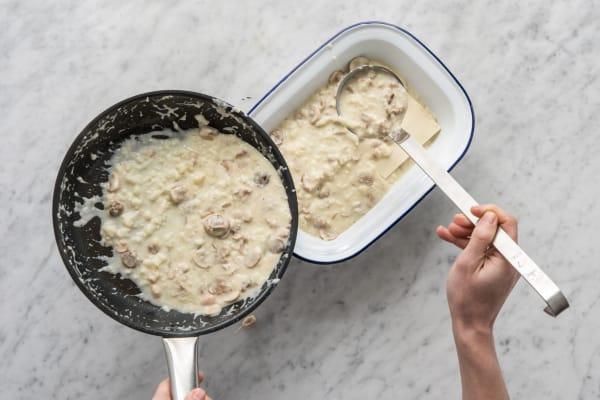 Maak de lasagne.