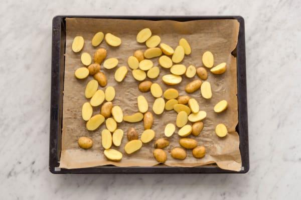 Kartoffeln verteilen