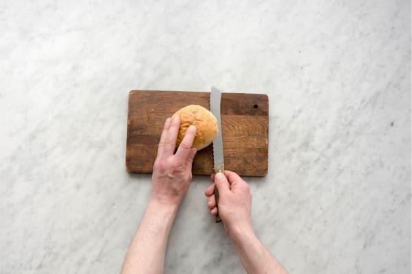 Toast the brioche buns