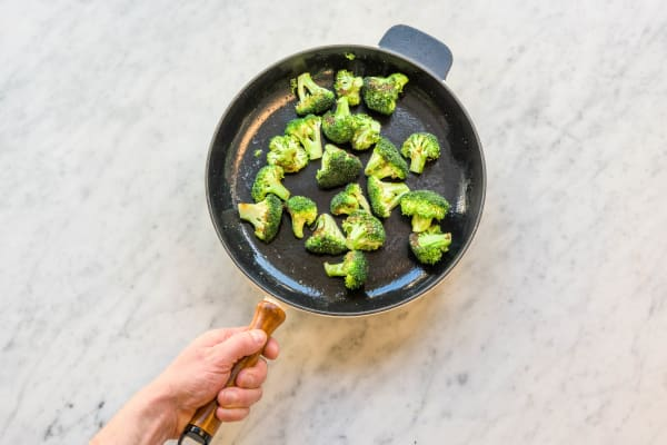Stir fry the broccoli