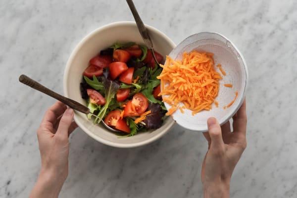 Salat anrichten