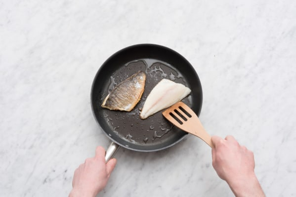 Pan fry the fish