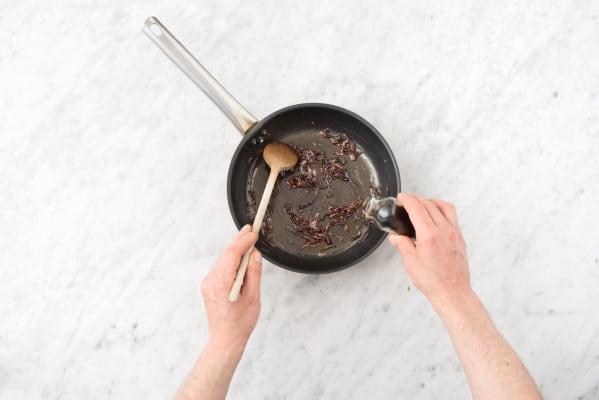 Make the red onion marmalade