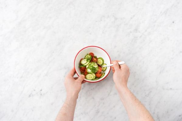 Marinate the salad