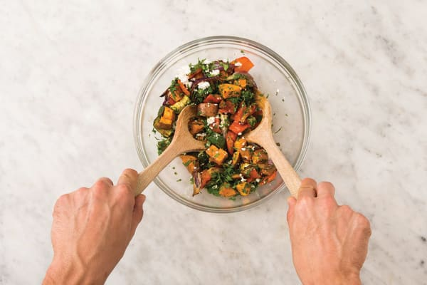 Make the roast vegetable medley