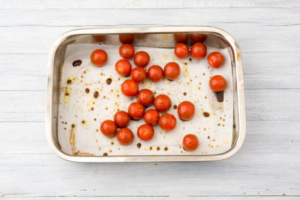 Roast the cherry tomatoes