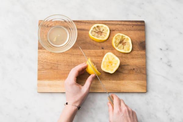 Découper le citron