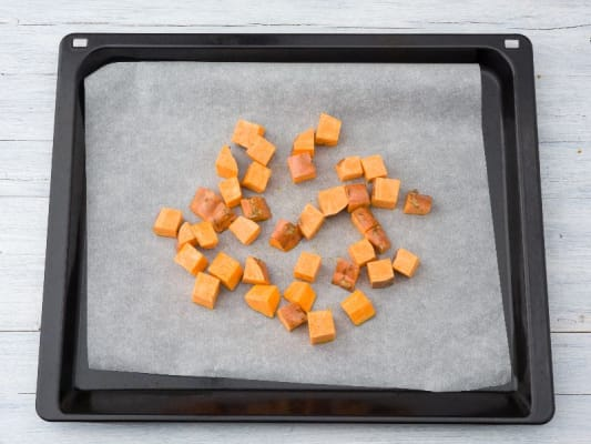 Preheat Oven and Roast Sweet Potatoes