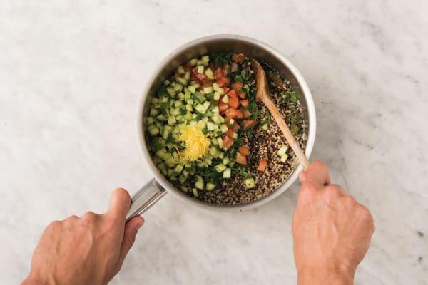 Make the quinoa tabbouleh