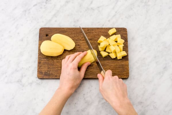 Preheat Oven and Boil Potatoes