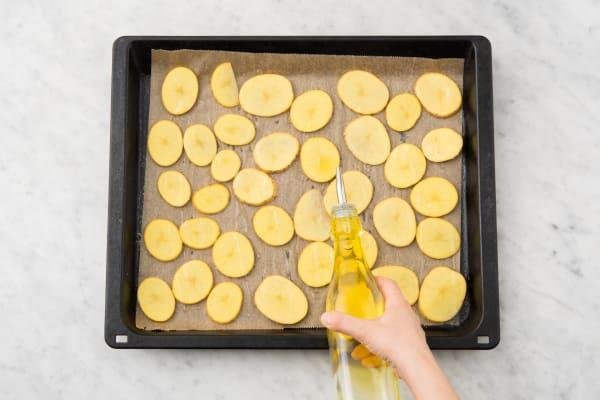 Aardappelschijfjes koken