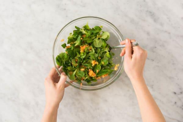 Salat zubereiten