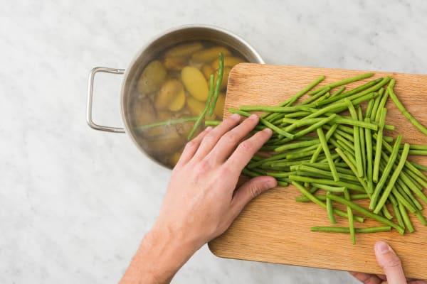Buschbohnen zubereiten