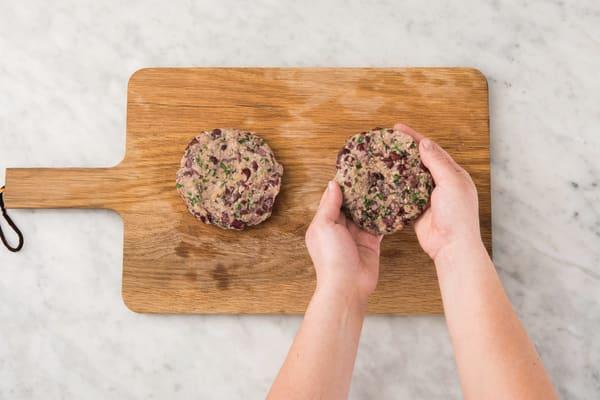 Make the veggie patties
