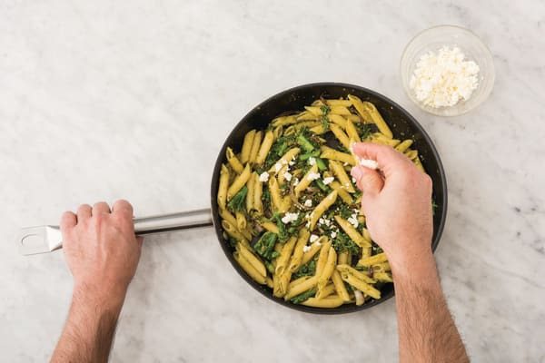 TOSS THE PASTA TOGETHER
