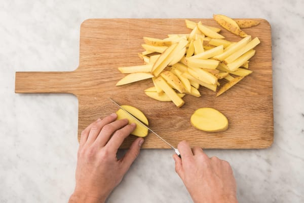 Cook the sesame fries