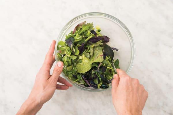 Make the raita and salad