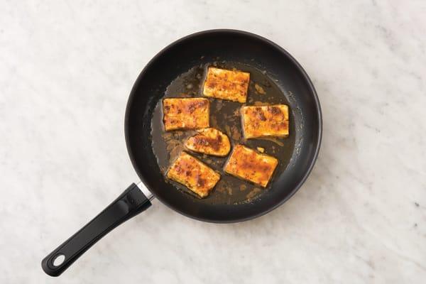 Cook the haloumi