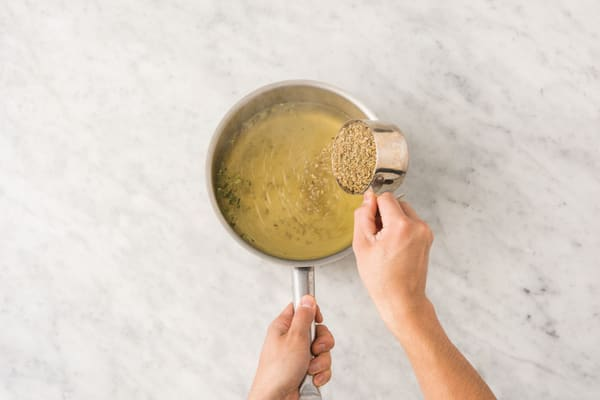 Cook the freekeh