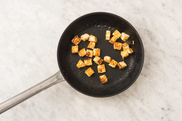 Cook the haloumi