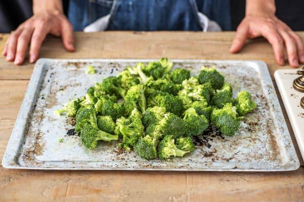 Broccoli ready to bake