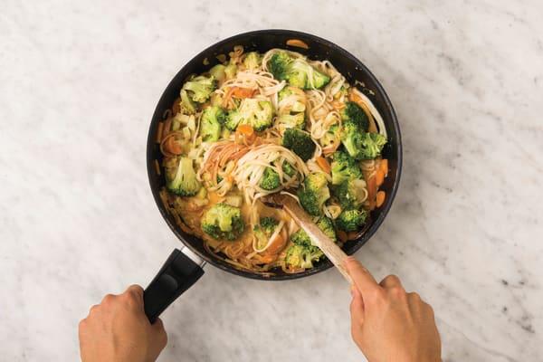 Toss the noodles